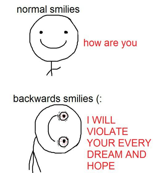 Backward smile... 14075910