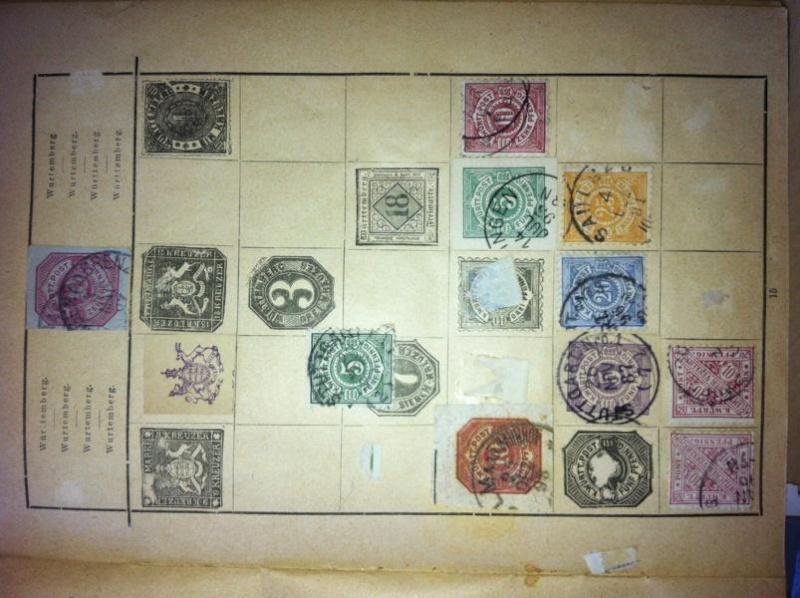 Altes Vordruckalbum vor 1900 Wertermittlung K800_i15