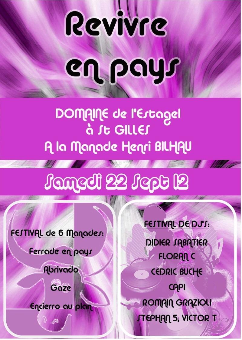 Revivre en pays le 22 Septembre 2012 organisé par Langlade Festivités Affich10