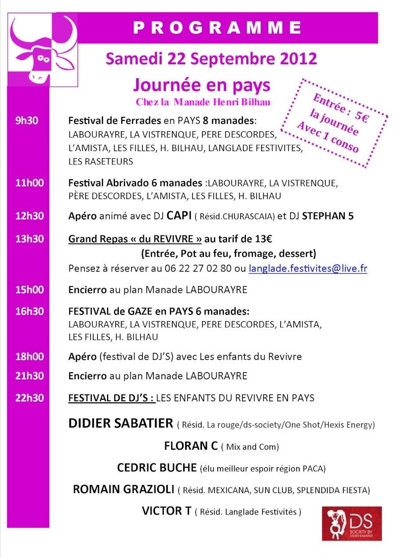 Revivre en pays le 22 Septembre 2012 organisé par Langlade Festivités Affich11
