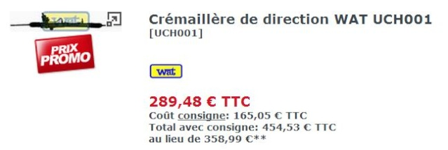 Remplacement CTC support crémaillère  Prix10