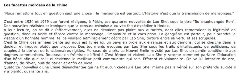 Lao She - [Chine] L410