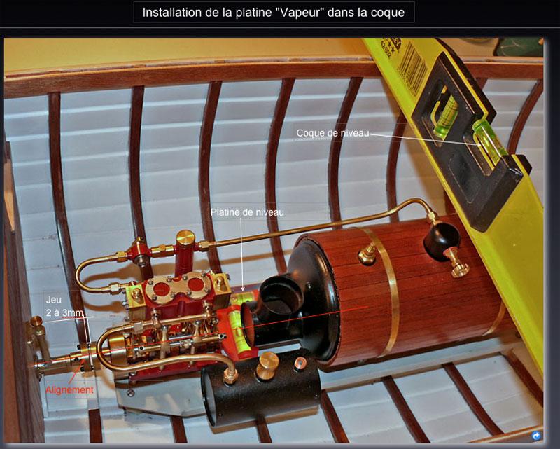 """Chaloupe à vapeur  """"Danmar"""" - Installation du moteur """"Cristal"""" d'Anton Calage10"""