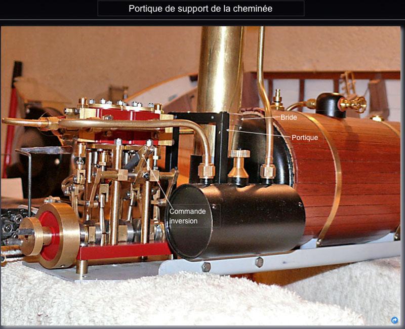 """Chaloupe à vapeur  """"Danmar"""" - Installation du moteur """"Cristal"""" d'Anton Chemin10"""