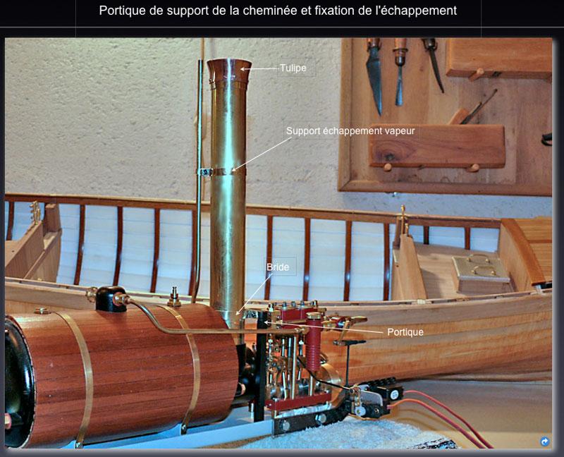 """Chaloupe à vapeur  """"Danmar"""" - Installation du moteur """"Cristal"""" d'Anton Chemin11"""