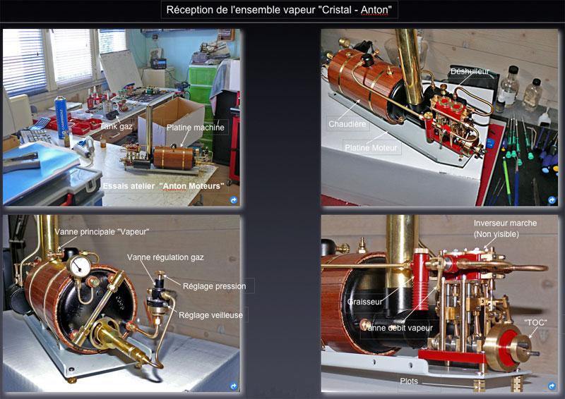 """Chaloupe à vapeur  """"Danmar"""" - Installation du moteur """"Cristal"""" d'Anton Recept10"""