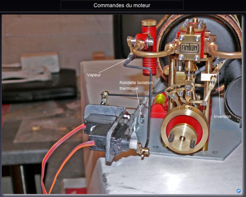 """Chaloupe à vapeur  """"Danmar"""" - Installation du moteur """"Cristal"""" d'Anton Servo_10"""