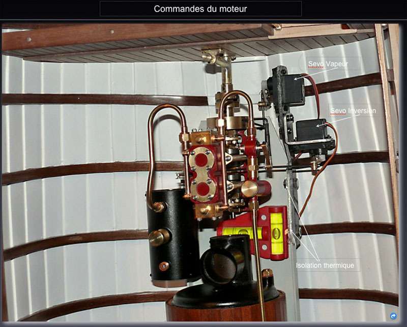 """Chaloupe à vapeur  """"Danmar"""" - Installation du moteur """"Cristal"""" d'Anton Servo_11"""