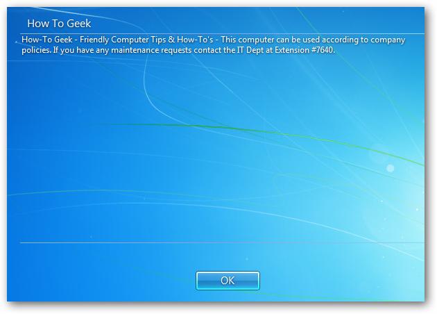 Hiển thị thông báo trước khi đăng nhập Windows 7 Regedi16