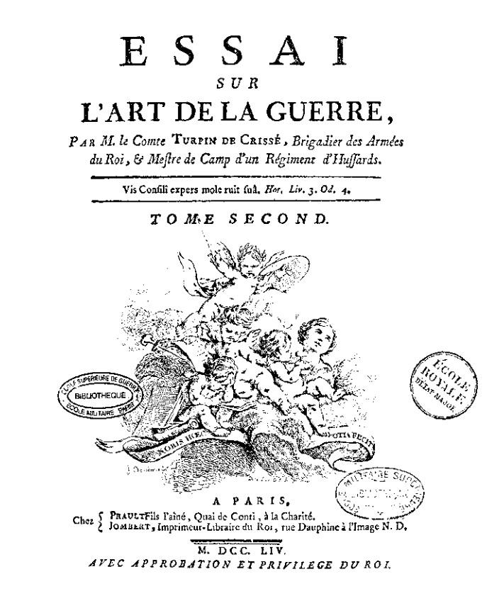 Lancelot TURPIN DE CRISSE, comte de Crissé , inspecteur-général de cavalerie et des dragons Turpin11
