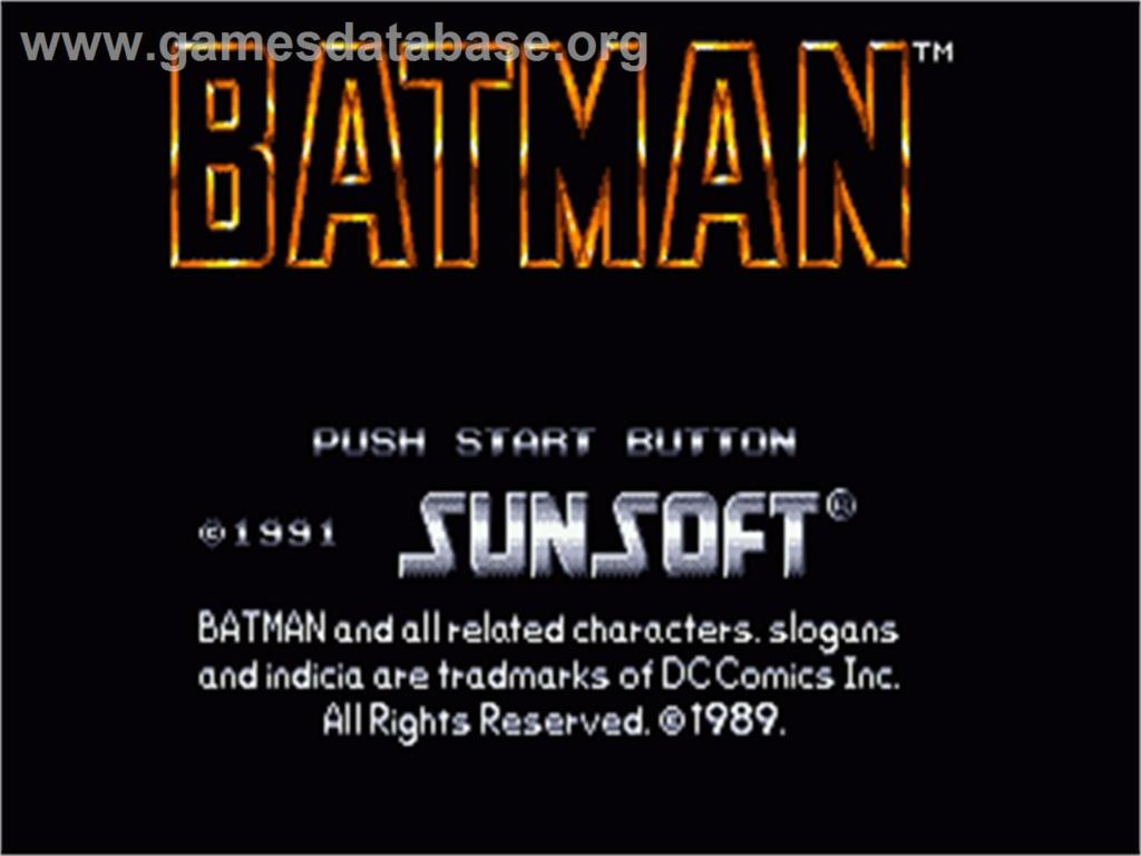 (Test) Batman - Megadrive Batman10