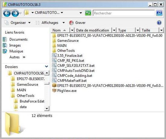 [PS3] Modification d'EBOOT & Création de PKG: Service Technique Pkgvie11