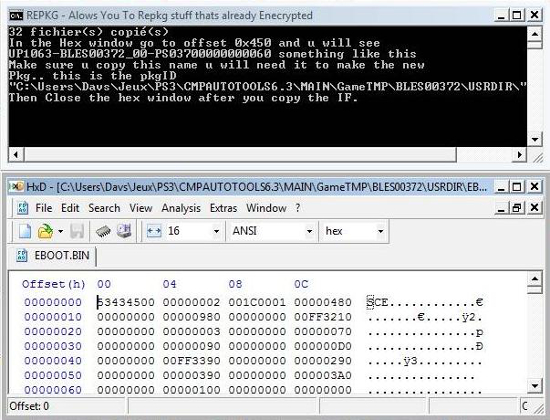 [PS3] Modification d'EBOOT & Création de PKG: Service Technique Repkg010