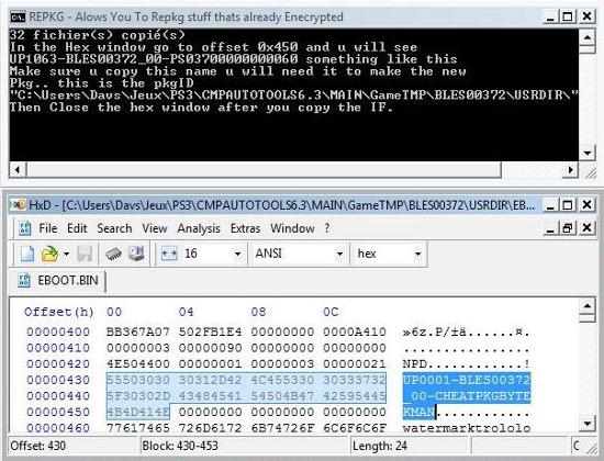 [PS3] Modification d'EBOOT & Création de PKG: Service Technique Repkg014
