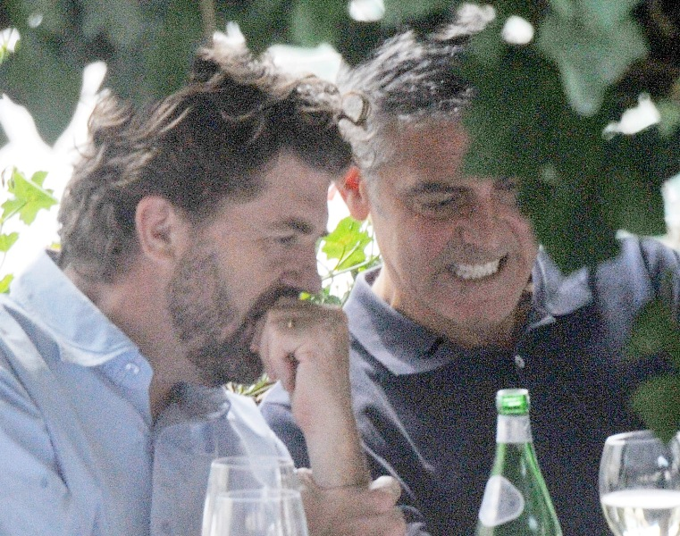 George Clooney with friends in Bellagio, Italy 19-07-2013 Cloone10