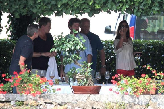 George Clooney with friends in Bellagio, Italy 19-07-2013 Italy10