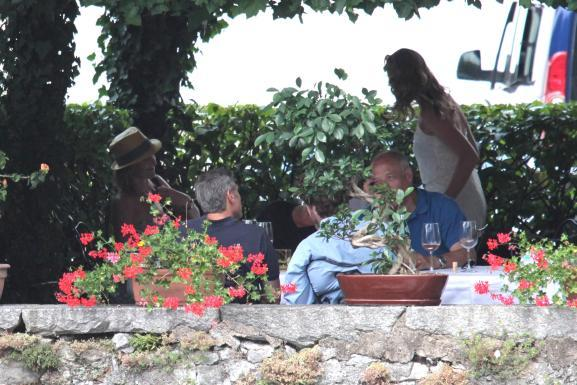 George Clooney with friends in Bellagio, Italy 19-07-2013 Italy210