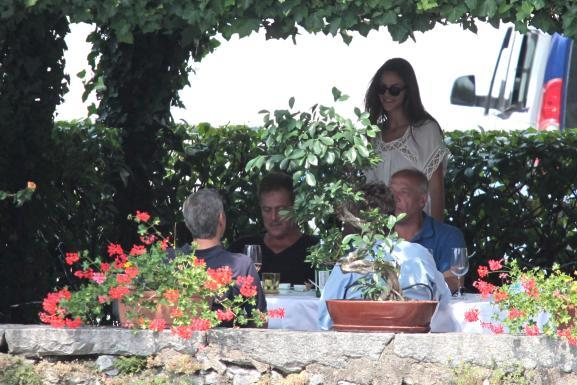 George Clooney with friends in Bellagio, Italy 19-07-2013 Italy310