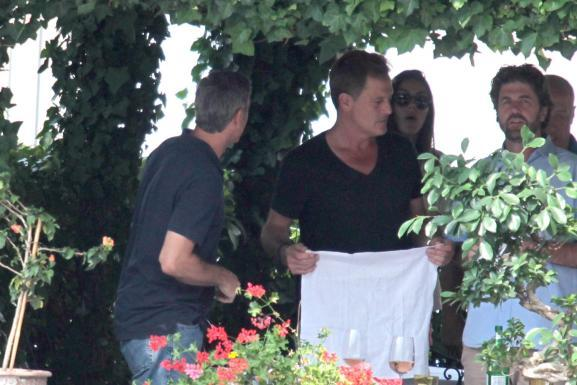 George Clooney with friends in Bellagio, Italy 19-07-2013 Italy_10
