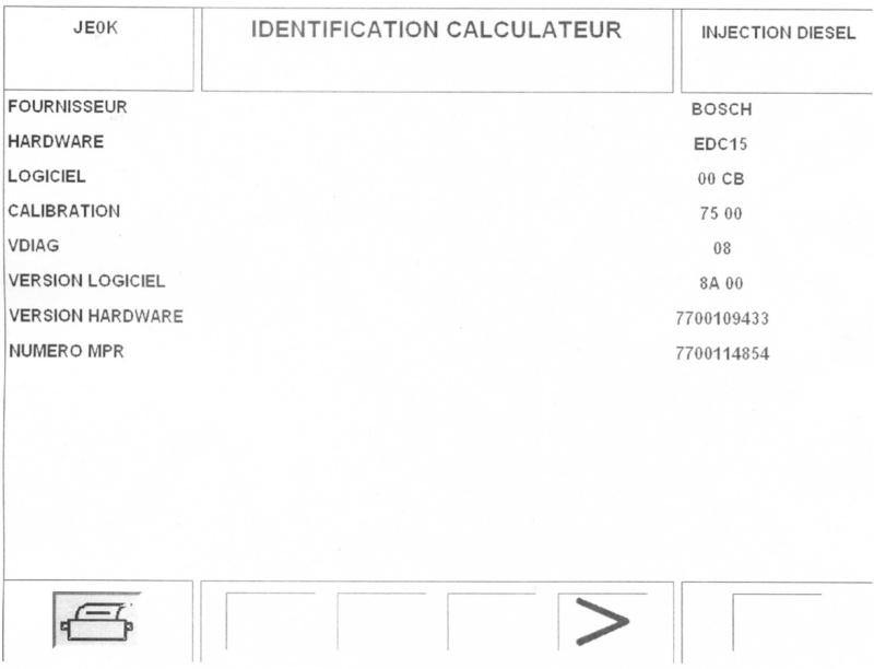 Recherche d'hypothèses panne calculateur Renault Espace III 2.2 dci phase 2 Caract11
