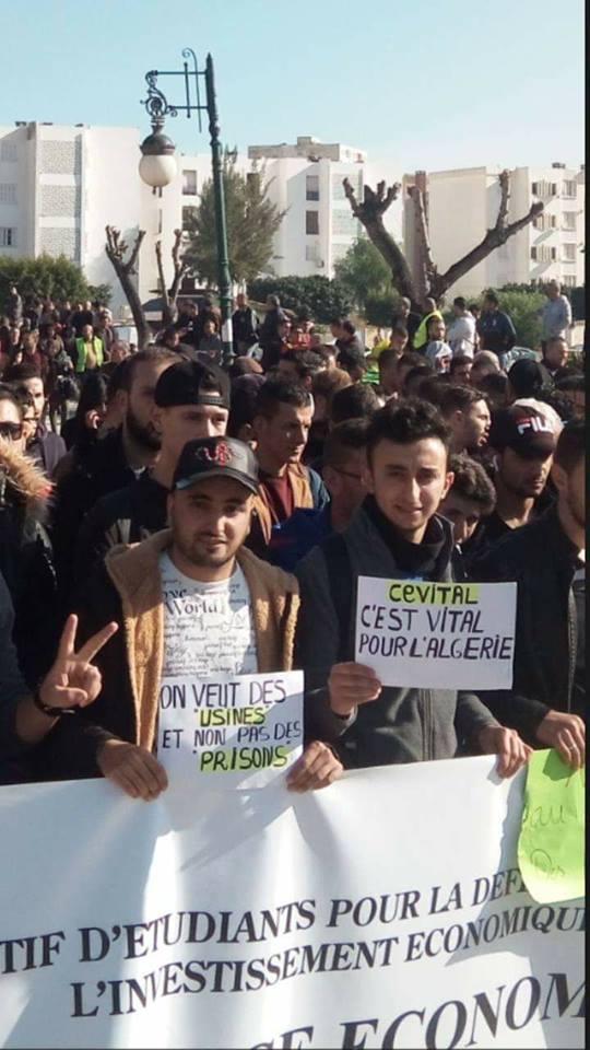 Marche populaire le Mardi 11 Décembre 2018, à Bèjaia, contre le blocage de Cevital ! 2018