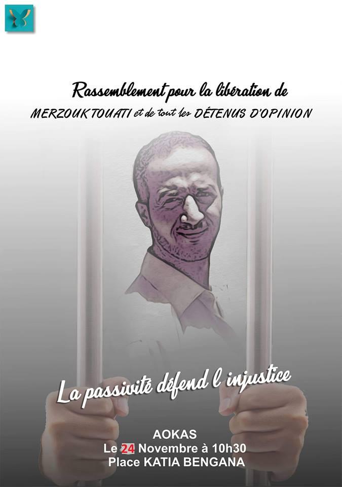 Rassemblement pour la libération de Merzouk Touati et tous les détenus d'opinion à Aokas le samedi 24 novembre 2018 à 10 h 30 5010