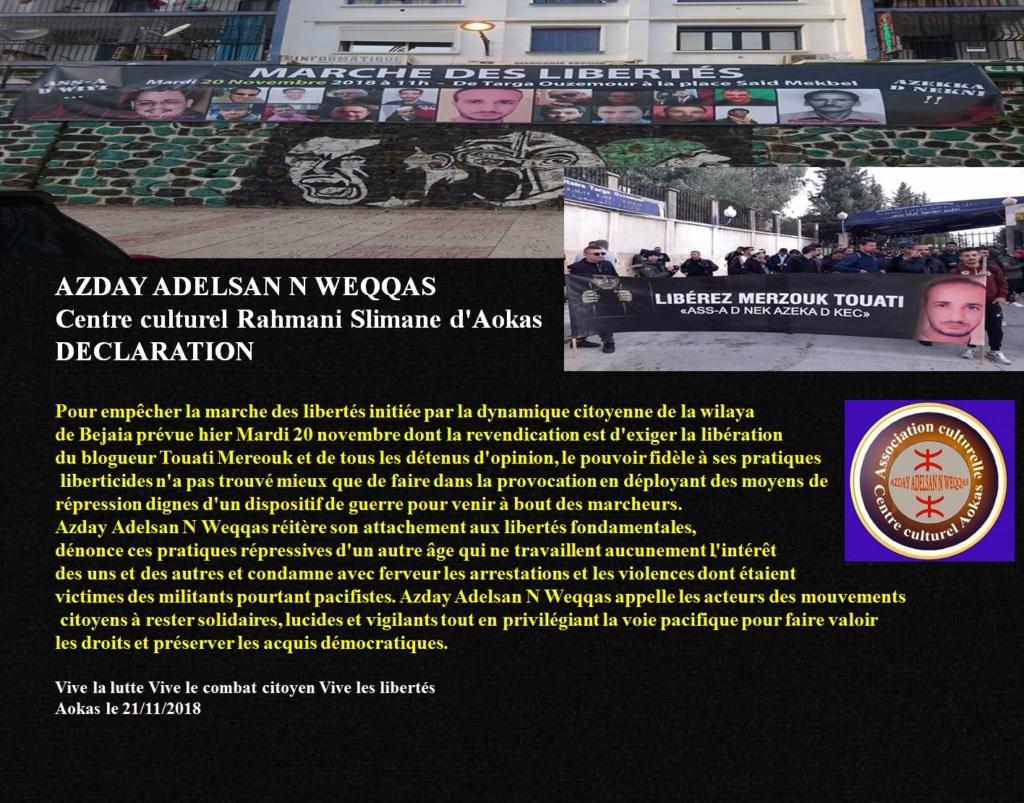 Azday Adelsan N Weqqas réitère son attachement aux libertés fondamentales De10