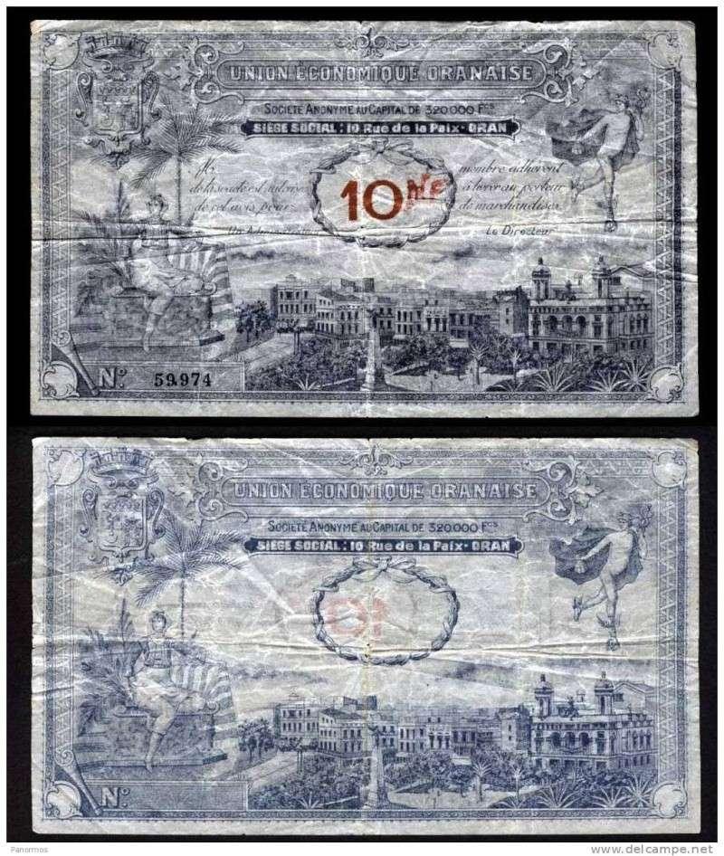 1,5 et 10 Francs Union économique oranaise et algérienne  Algérie  574_0010