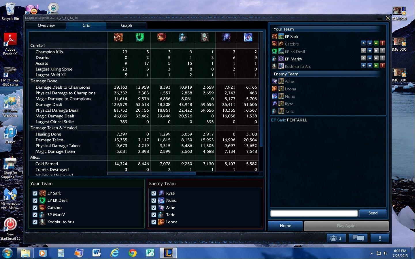 My carry with Singed Pentak10