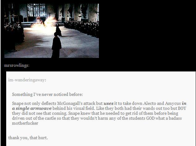 Talk about Harry potter Snape10