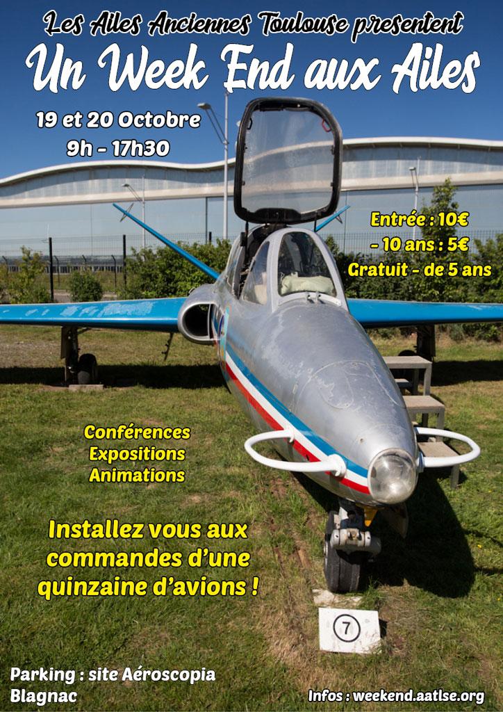 W.E. aux Ailes Anciennes Toulouse les 19 & 20 octobre prochain N754_110