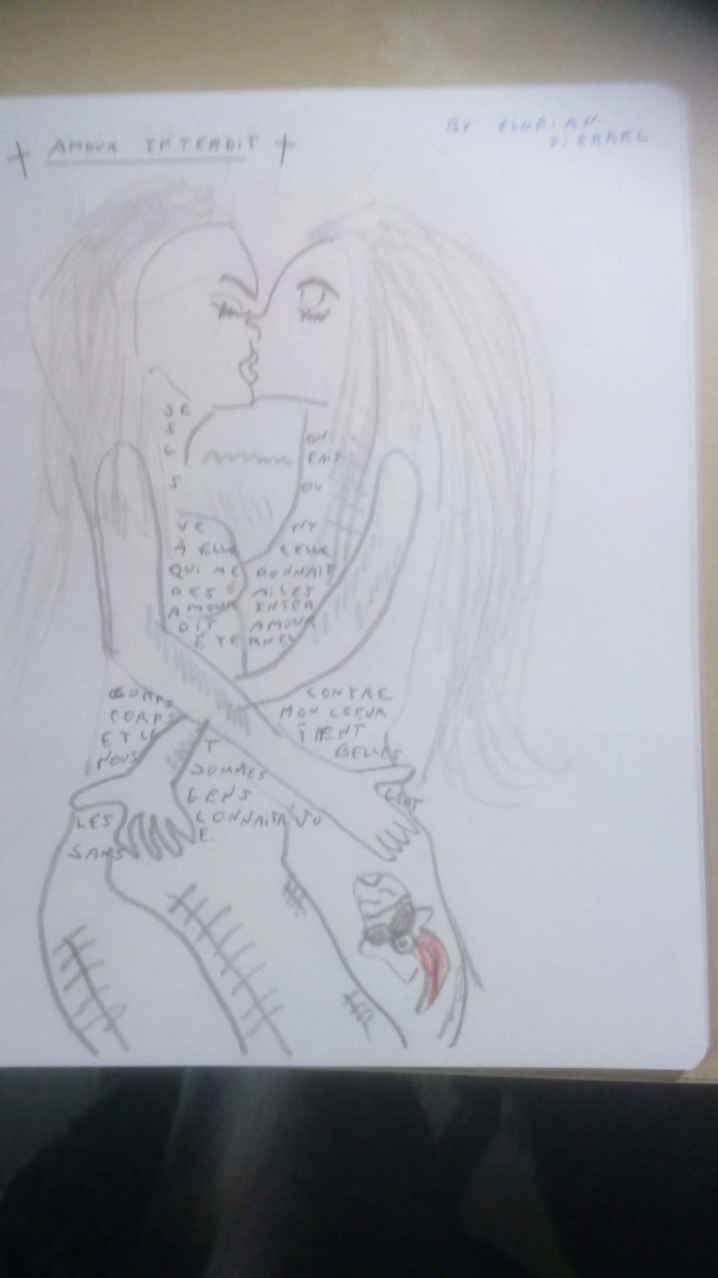 "Calligramme "" Amour Interdit"" Art by Florian Pierrel Img_2010"