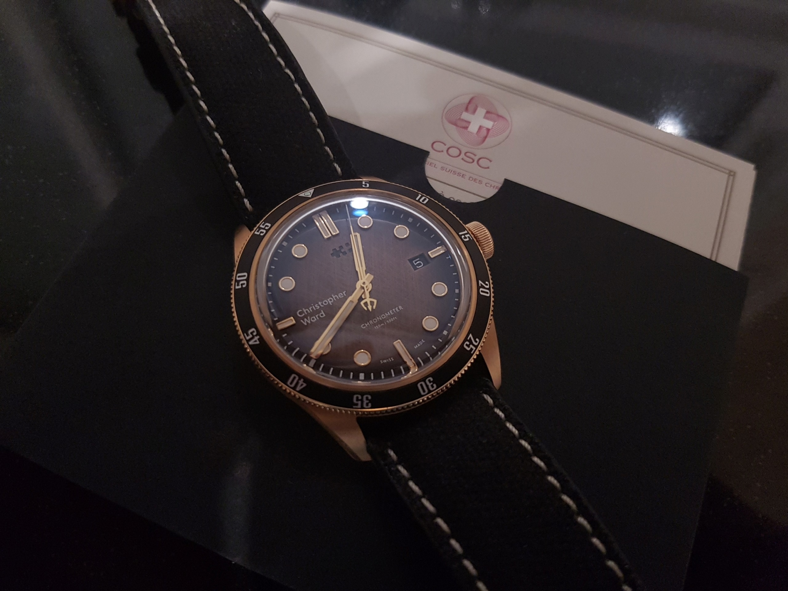 ward - [Revue] - Christopher Ward C65 Trident Bronze Ombre 20191136