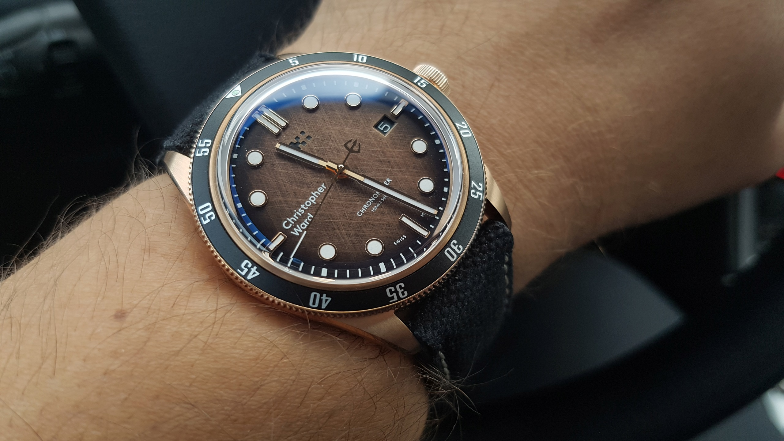 ward - [Revue] - Christopher Ward C65 Trident Bronze Ombre 20191137