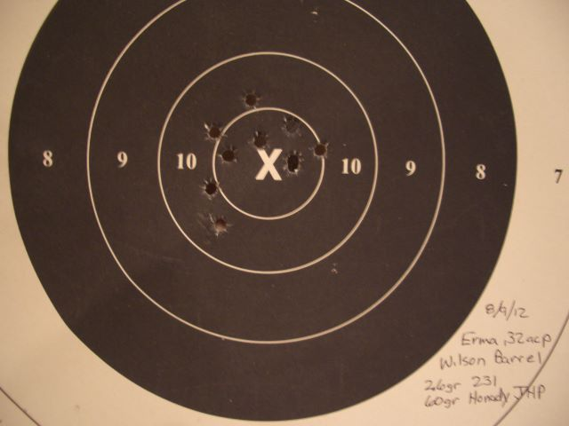 32 SWL at 50 Yds vs. 32 ACP at 50 Yds  Best_210