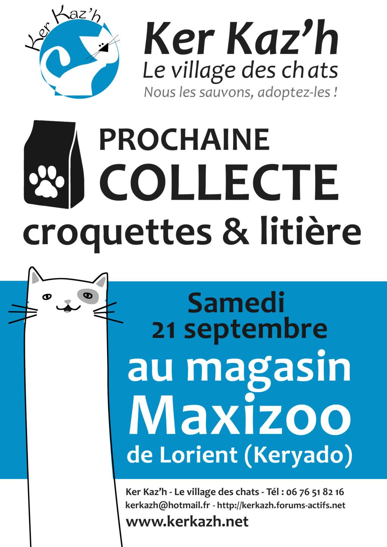 Journée de collecte le samedi 21 septembre à Maxizoo. Affich14