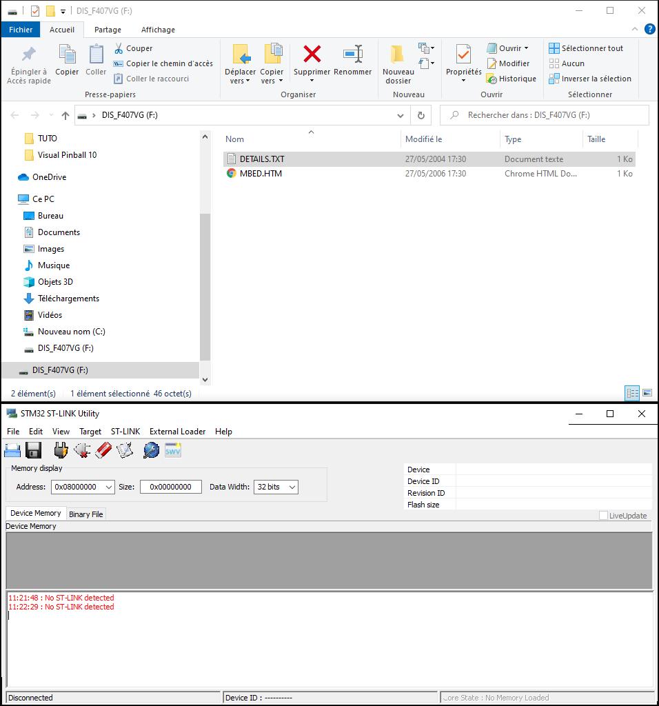[RÉSOLU] Problème installe firmware stm32 PIN2DMD Captur10