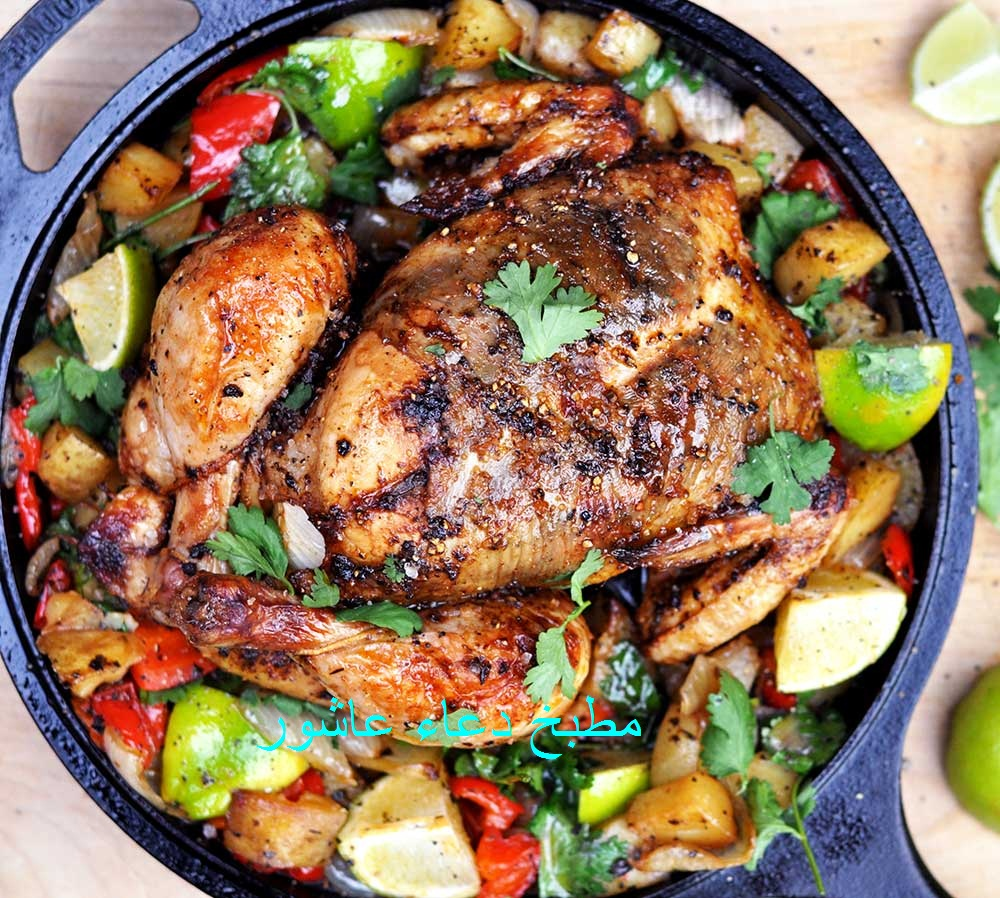 دجاج مشوى على الطريقة المكسيكية  Cyy_aa13