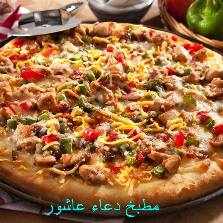 بيتزا بالدجاج وريحان Ooo_cy10
