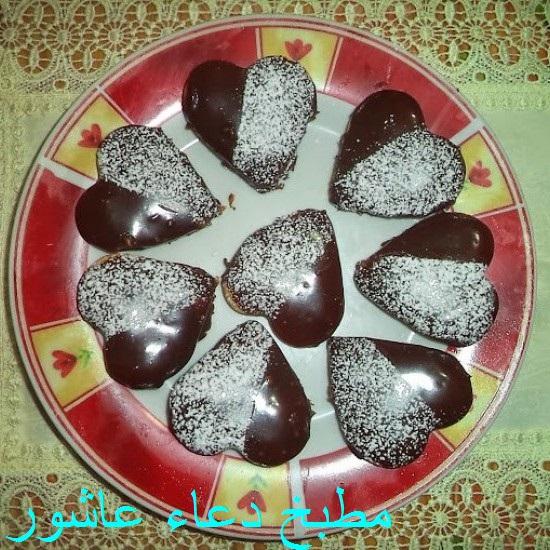 حلوى قلوب سوداء بالشكولاتة Yaio_a15