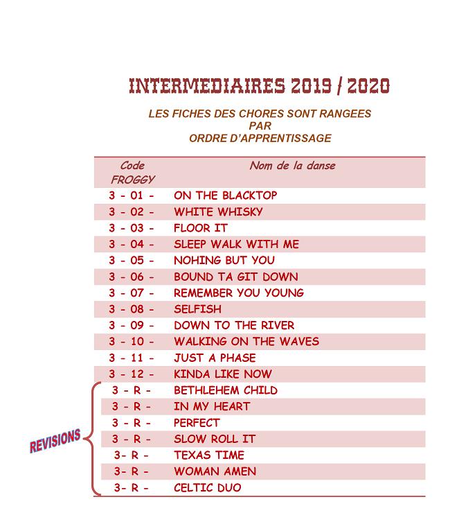 CHOREGRAPHIES 2019 / 2020  Liste_26