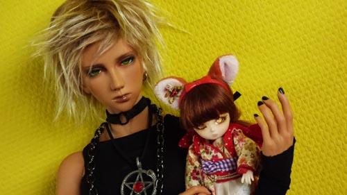 ❀ Kitsune ❀ BJD AI Tsubaki ❀ et Lavande ❀ Pukipuki Cupid ❀  P1370810