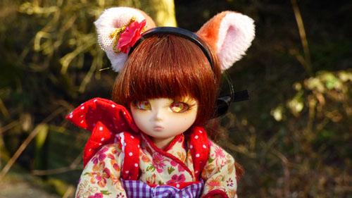 ❀ Kitsune ❀ BJD AI Tsubaki ❀ et Lavande ❀ Pukipuki Cupid ❀  P1400910