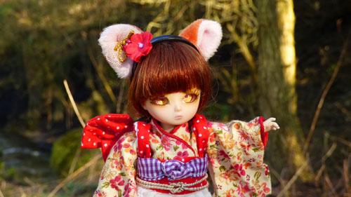 ❀ Kitsune ❀ BJD AI Tsubaki ❀ et Lavande ❀ Pukipuki Cupid ❀  P1400912