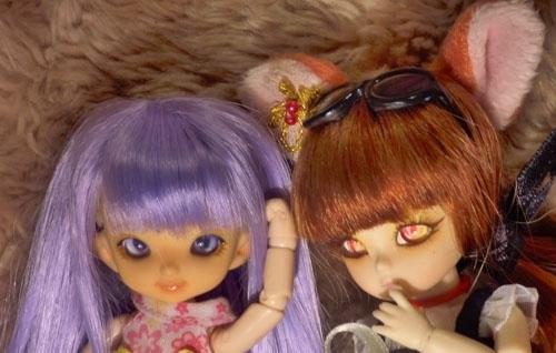 ❀ Kitsune ❀ BJD AI Tsubaki ❀ et Lavande ❀ Pukipuki Cupid ❀  P1420711