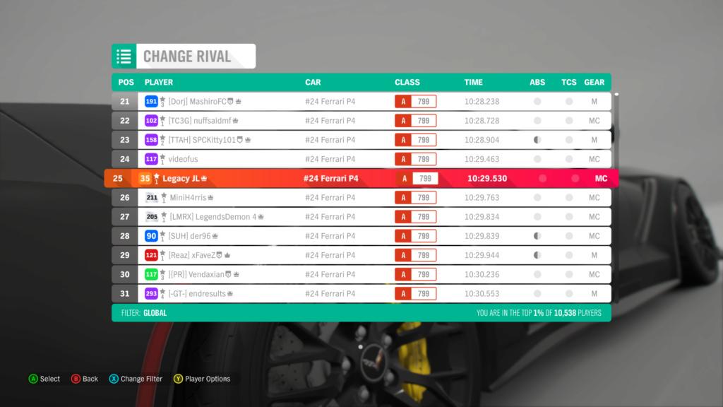FH4 Time Attack   Road Racing - The Goliath - #24 Ferrari P4 1-9-2011