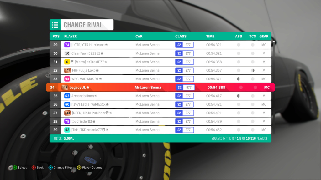 *RESULTS UP* FH4 Time Attack | Monthly Rivals - McLaren Senna 10-5-210