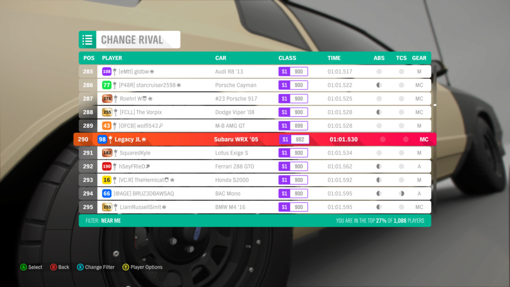 FH4 Time Attack | Lakehurst Copse Circuit - 600hp(AWD/RWD/FWD) 8-11-210