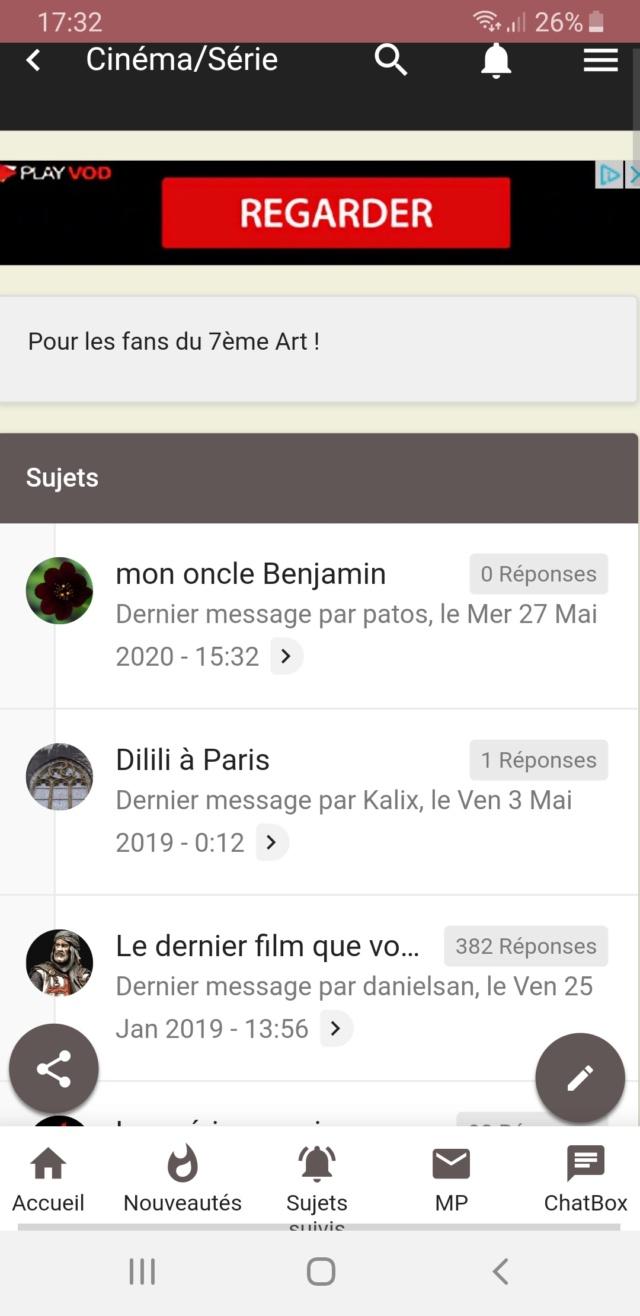 agencement des éléments sur le site mobile ( appli PWA ) Screen10