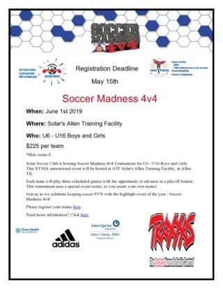 Soccer Madness 4v4 June 1st, 2019 Madnes11